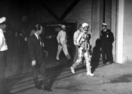 John Glenn passes through the Hangar S portal to space.
